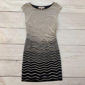 LOFT Petite Striped Dress